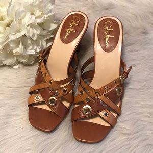 Cole Haan Leather Wedge Sandals